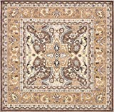 Unique Loom Tradition Collection Classic Southwestern Brown Square Rug (8' 4 x 8' 4)