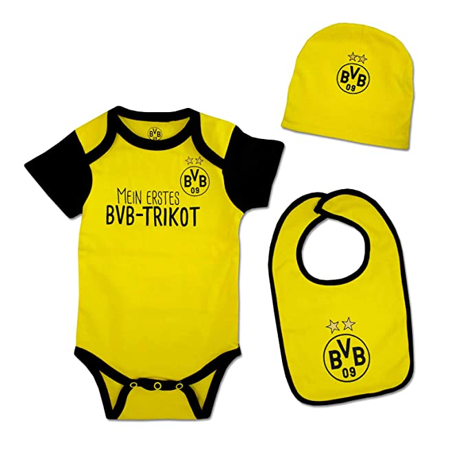 BVB Strampler - BVB Baby Geschenkbox 3-teilig