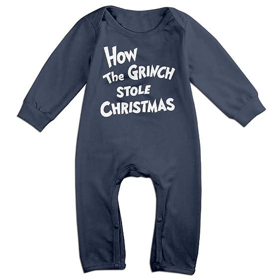 Amazon Com Babysusu Grinch Stole Christmas Baby Romper Jumpsuit
