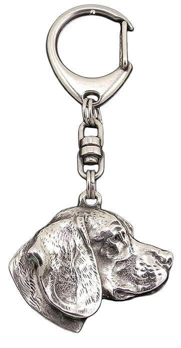 Beagle inglés, llavero del perro, ArtDog: Amazon.es: Joyería