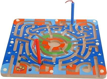 Gobus Perlas Laberinto Rompecabezas Educativo Juego de Mesa Laberinto Interactivo Juguetes para niños (Pista de Anillo): Amazon.es: Juguetes y juegos