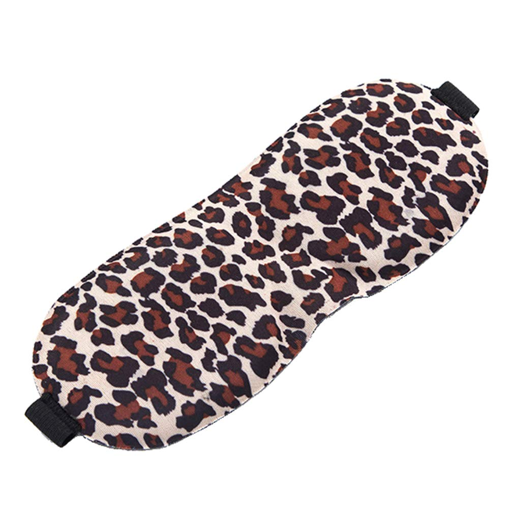 Afco Portable 3D Soft Breathable Eye Mask Travel Blindfold Eyeshade Sleeping Aid Eye Cover Leopard