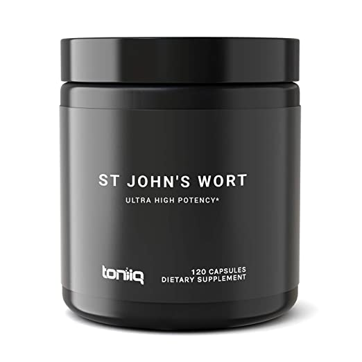 Ultra High Strength St. John's Wort Capsules - 7X Concentrated Extract - The Strongest St Johns Wort Capsules Available - 0.3% Hypericin - 120 Capsules