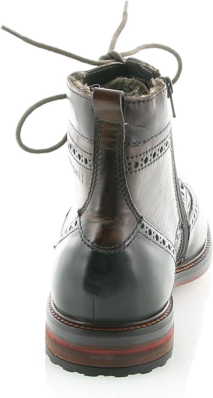 bugatti 31137752-1160 Marcello Brogue Dark Grey Multi Mens Boots Brown Anthracite