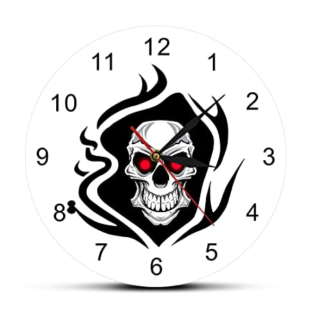 Tatuaje Calavera Rose Reloj de Pared Death Evil Killer Tattoo ...