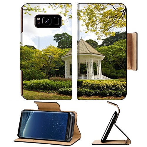 Bandstand Music (Liili Premium Samsung Galaxy S8 Plus Flip Pu Leather Wallet Case A gazebo known as The Bandstand in Singapore Botanic Gardens Music Photo 8382962 Simple Snap Carrying)