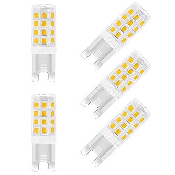 LOHAS® 5 W G9 LED Light Bulb Equivalent 40 W Halogen Bulb, (Pack ...