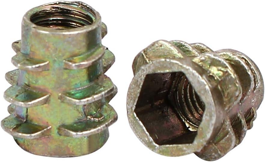 sourcingmap/® 60stk M5x10mm Innensechskant Gewindeeinsatz Muttern Bronze Ton f/ür Holz M/öbel DE de