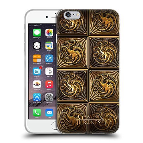 Price comparison product image Official HBO Game Of Thrones Targaryen Golden Sigils Soft Gel Case for Apple iPhone 6 Plus / 6s Plus