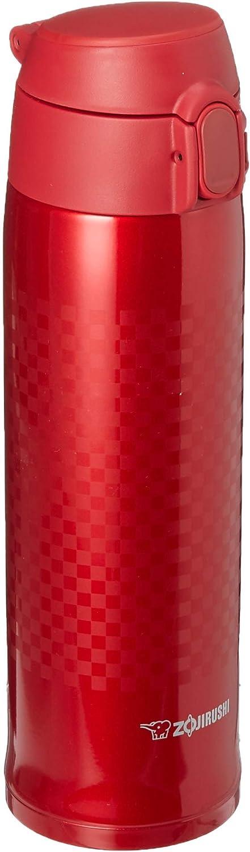 Zojirushi Stainless Steel Vacuum Insulated Mug, 16-Ounce, Ichimatsu Red