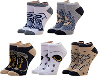 Junior's Harry Potter 5 Pack Ankle Socks Standard BioWorld XS73HYHPT