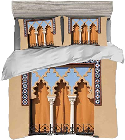 Funda nórdica Tamaño King (200 x 200 cm) con 2 fundas de almohada árabe Juegos de