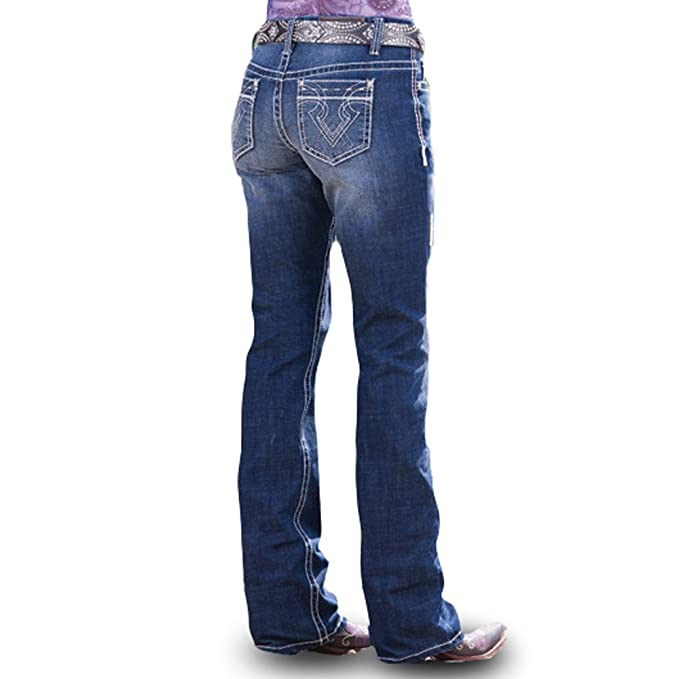 d7d23fcd Cowgirl Up Denim Jeans Womens Bootcut Med Dark Stonewash CGJ30605:  Amazon.ca: Clothing & Accessories