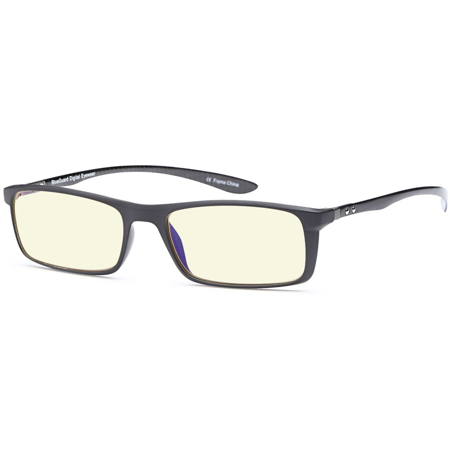 TRUST OPTICS FeatherView Computer Video Gaming Glasses in Lightweight Tortoise TR90 Frame and Anti UV High Energy Blue Light Lenses
