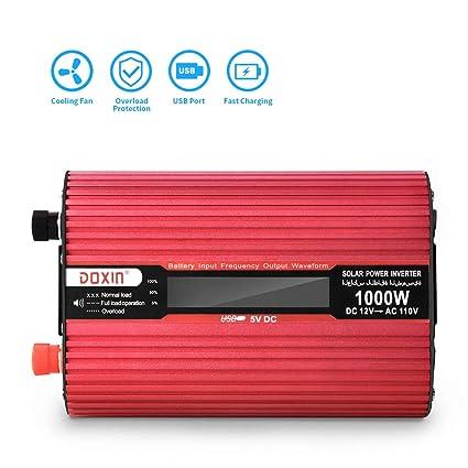 UUNITONA Power Inverter 1000Watt 50Hz DC to AC Modified Sine Wave High  Power Solar Inverter Car Inverter Power Supply for TV, DVD Player,  Refrigerator