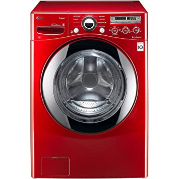 lg front load washer. lg wm2650hrasteamwasher 3.6 cu. ft. wild cherry red stackable with steam cycle front load lg washer c