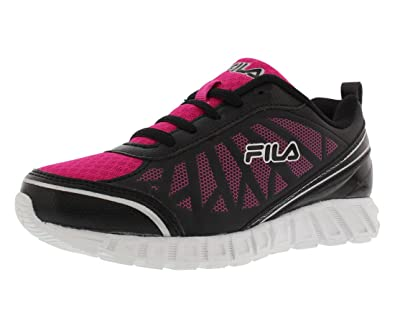 0095b57f7932 Fila Blast Runner 2 Running Kid s Shoes Size 11 Black Fuchsia