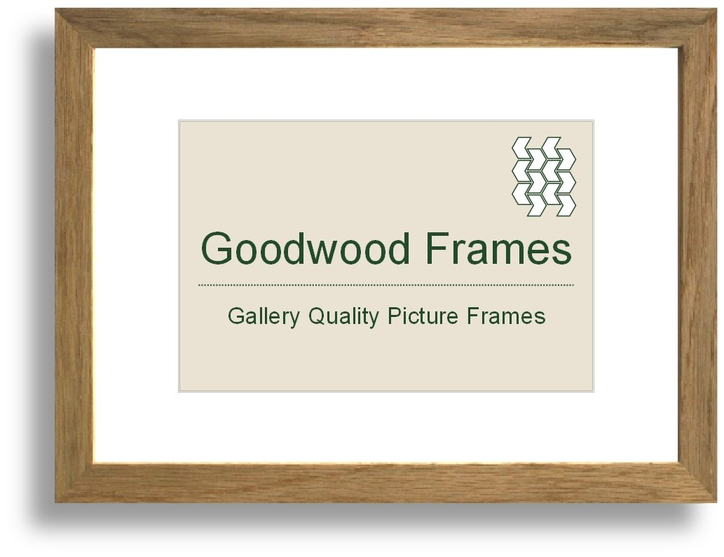 16x20 inch Natural solid oakwood picture frame - Clear Styrene ...