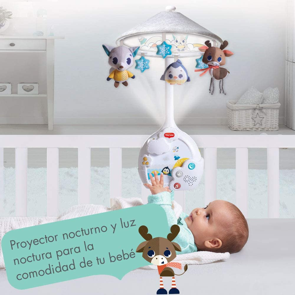 Tiny Love Magical Night Carrusel cuna bebe, Movil musical y ...
