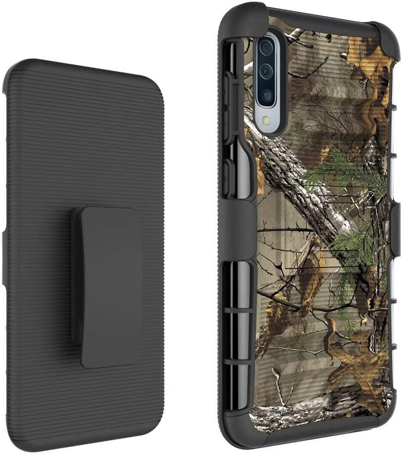 Lantier Holster Case with Kickstand /& Swivel Belt Clip Hybrid Shockproof Heavy Duty Full Body Rugged Bumper Armor Protective Cover for Samsung Galaxy A50 Camouflage
