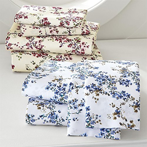 Brylanehome 350-Thread Count Watercolor Floral Sheet Set (Floral Watercolor Quilt)