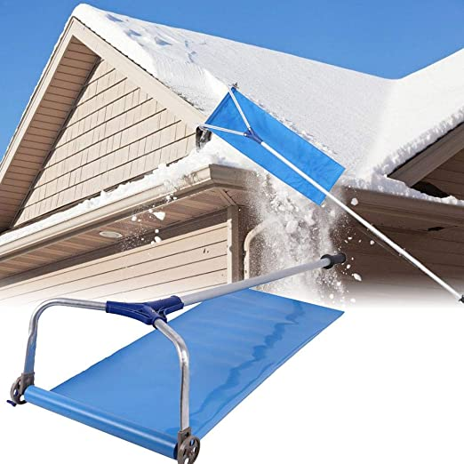 Amazon.com: Cemic Snow Rakes Roof,Snow Rake with Wheels,Telescopic ...