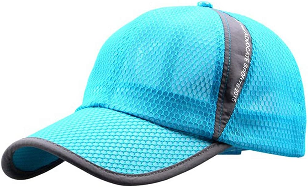 hat Cap Men Quick Dry Outdoor Summer Sun hat Casual Sports Letter mesh Men Baseball caps,Black,United States