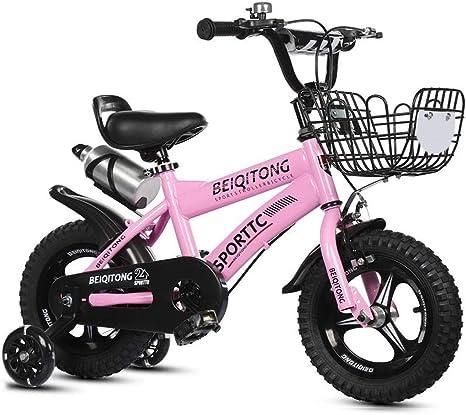 ZEwe Niños Bicicleta Niño 2-3-4-5-6-7-8 Años Bicicleta Pedal Y ...
