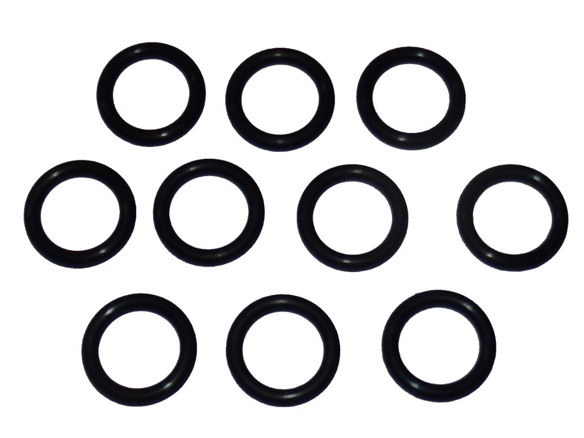 "Captain O-Ring - Power Pressure Washer O-Rings for 3/8"" Quick Coupler, High Temperature Viton (10 Pack) [1/2"" o-Rings to fit 3/8"" QC Fittings]"
