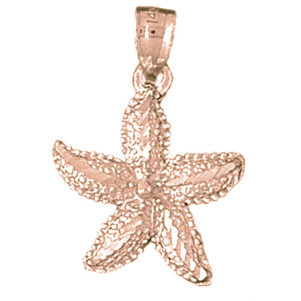 Rhodium-plated 925 Silver Starfish Pendant with 30 Necklace Jewels Obsession Starfish Necklace