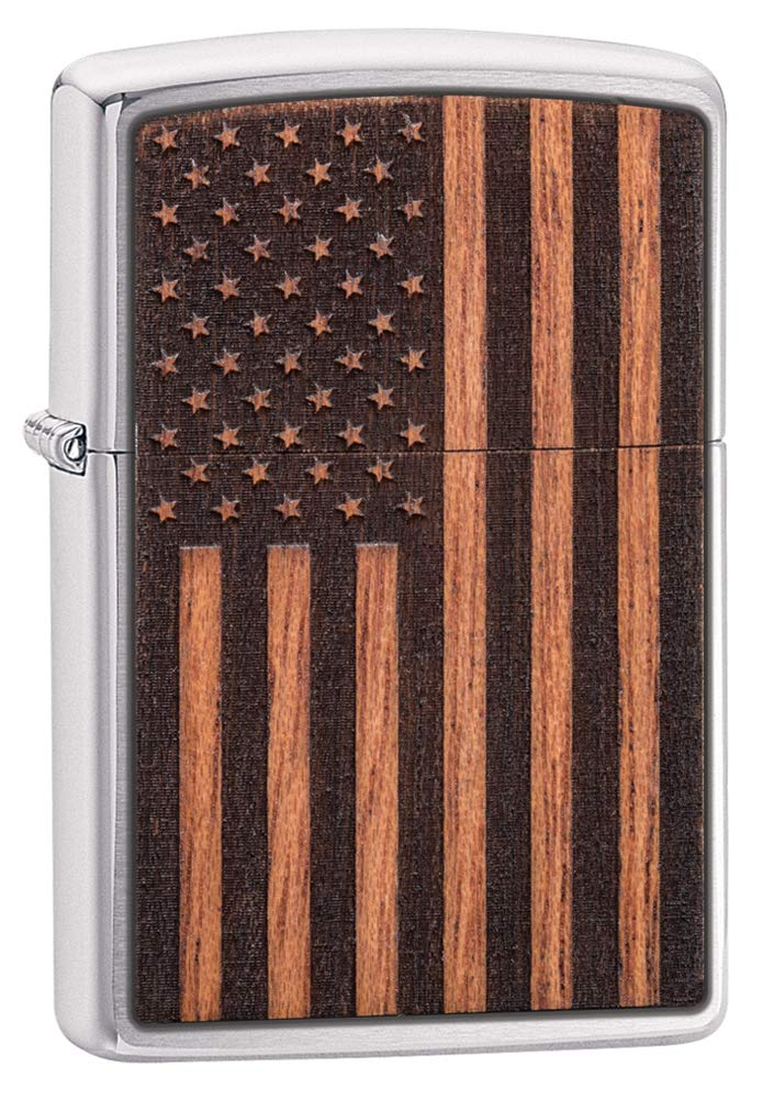 Zippo Woodchuck USA American Flag Pocket Lighter