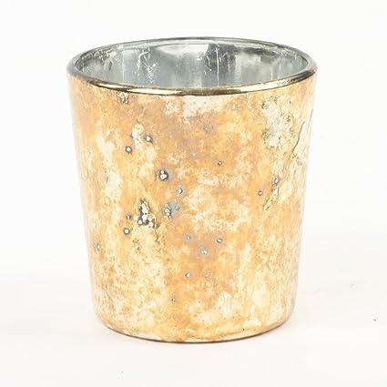 Amazon com: Koyal Wholesale Votive Candle Holder, Burnt Gold, 2 5