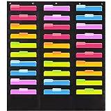 Schwarz Goodplan Wandbehang File Organizer 10 Taschen Oxford Tuch Hanging File Folder Bag f/ür B/üro und Schule