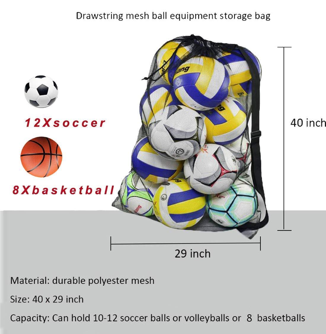 Basketball Holding Carry Handmade Football Basketball Storage Bag Draw Mesh Sack Net Pockets Less Expensive Office & School Supplies