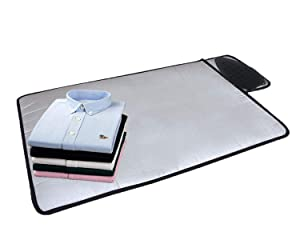 "HOMILA Portable Ironing Mat with Silicone Pad,Ironing Blanket Heat Resistant Steaming Mat,19.5"" X 28"",Grey"