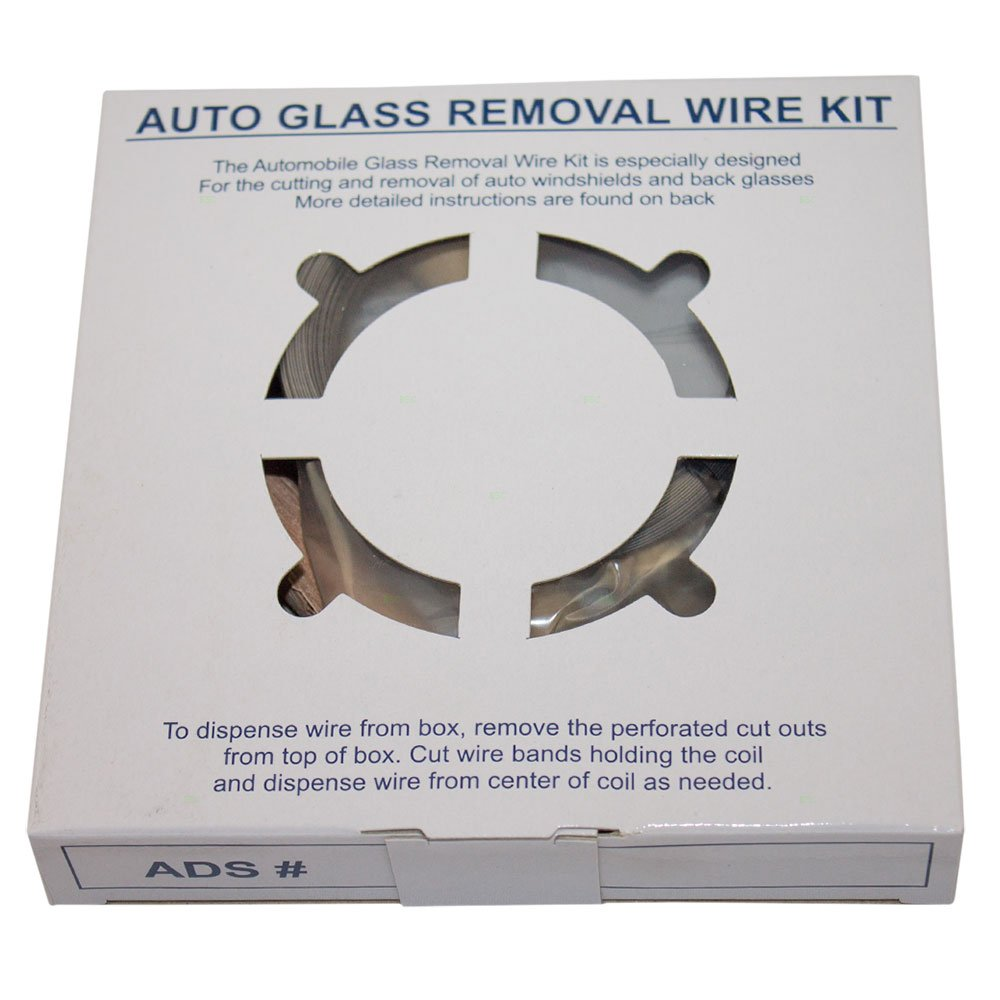 Windshield Auto Glass Removal Wire Kit 213' ft Stainless Steel Piano Wiring w/ 4 Handles for Auto Glass Cutting Repair Disposal AutoAndArt