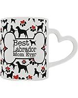 Labrador Retriever Gift Best Labrador Mom Ever Dog Owner Gifts Lab Dog Lover Heart Handle Gift Coffee Mug Tea Cup Heart Handle