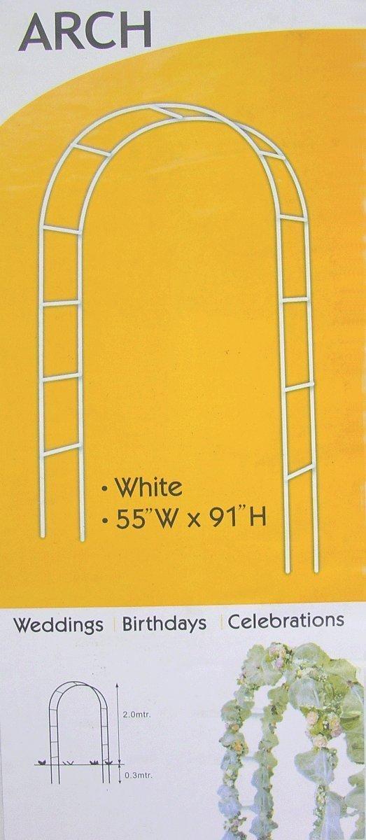 7.5 FtホワイトメタルアーチウェディングパーティーブライダルプロムGarden Floral Decoration B01GP0GT8U
