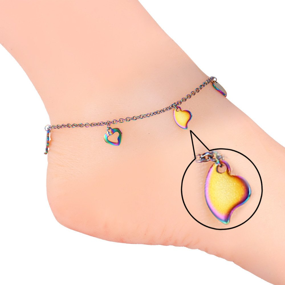 U7 Girls Fashion Heart Chain Anklet Foot Leg Chain Bracelet Jewelry U7 Jewelry U7 GA1535
