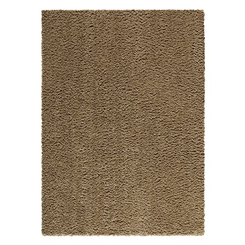 Maples Rugs Area Rugs, [Made in USA][Catriona] 5' x 7' Non Slip Padded Large Rug for Living Room, Bedroom, and Dining Room - Maverick Brown (Shag Carpet Area Rug)