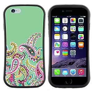 "Hypernova Slim Fit Dual Barniz Protector Caso Case Funda Para Apple (4.7 inches!!!) iPhone 6 / 6S (4.7 INCH) [Fractal Dibujo femenino Femenino""]"