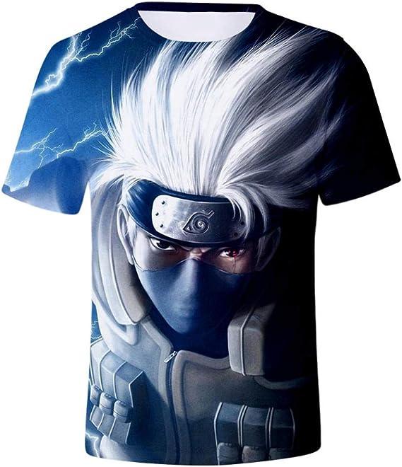 Camisetas, Calle Moda Naruto Kakashi Hombres Cuello ...
