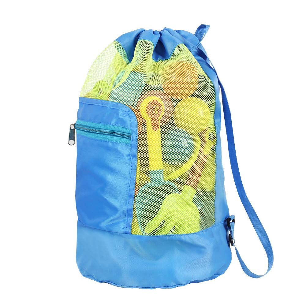 Urlaub Blau Strand CODIRATO Strandspielzeug Tasche Faltbare Spielzeug Netztasche Gro/ßer Sandspielzeug Rucksack Mesh Strandtasche f/ür Outdoor