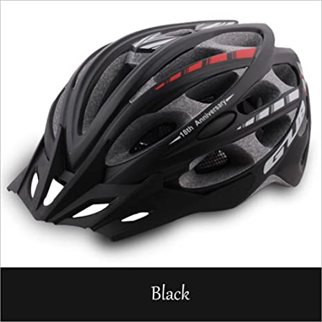 Hflsmm ess-Los cascos para bicicletas MTB casco de bicicleta de carretera hombres y mujeres equipo de ciclismo integrado, black: Amazon.es: Deportes y aire libre