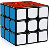 YongJun Guanlong Speed Cube 3x3x3 Smooth Magic Cube YJ Cube Puzzle Toys 56 mm (Black)