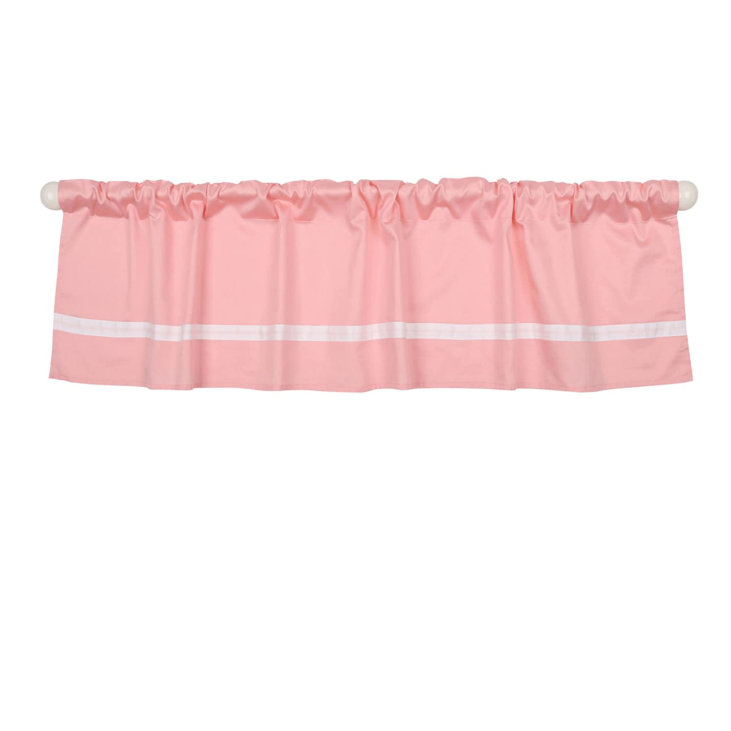 Pink Tailored Window Valance by The Peanut Shell 100/% Cotton Sateen