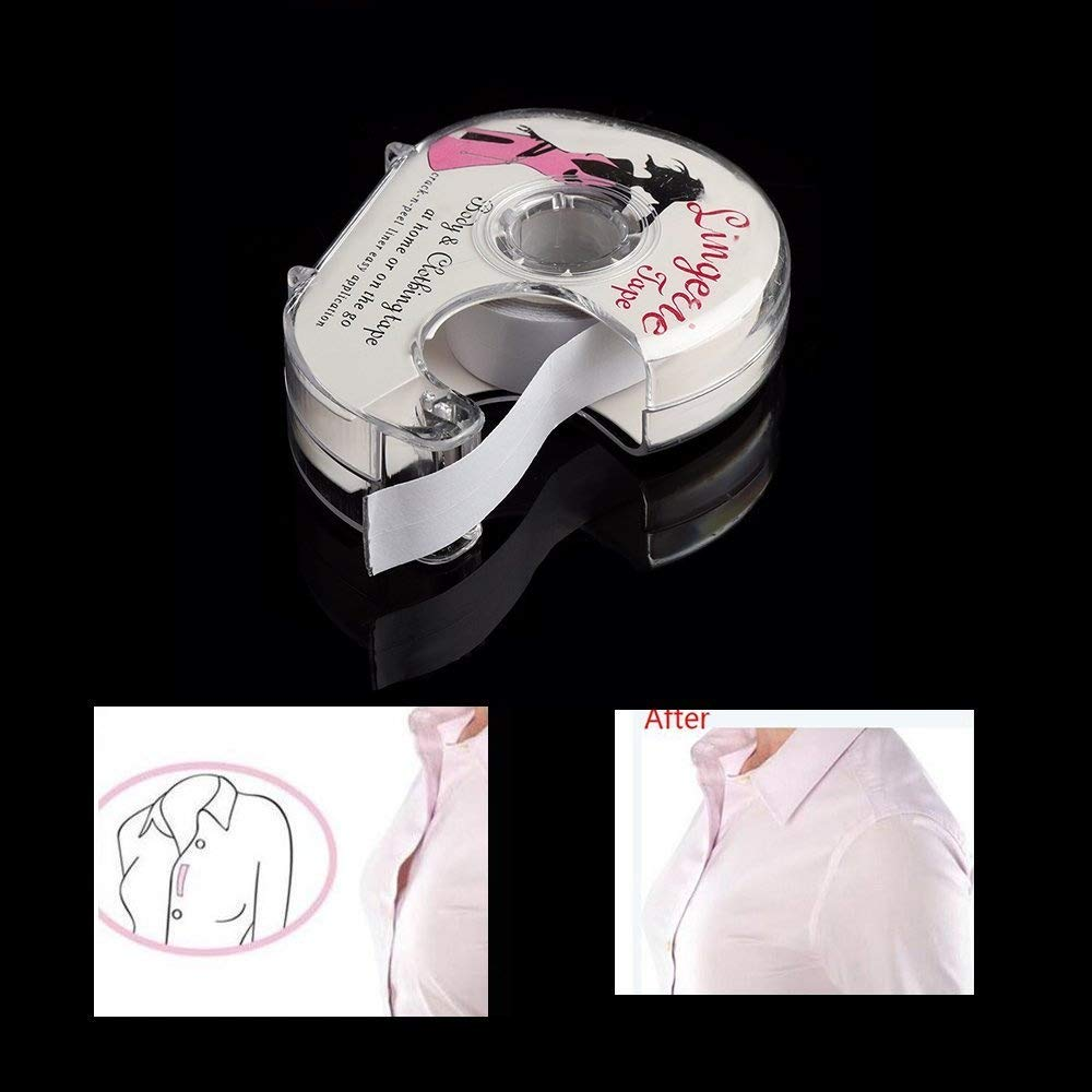Xiaolanwelc@ Fashion tape 3 Meters Double Sided Adhesive Safe Lingerie Tape Body Clothing Clear Bra Strip Medical Waterproof Tape V-neck