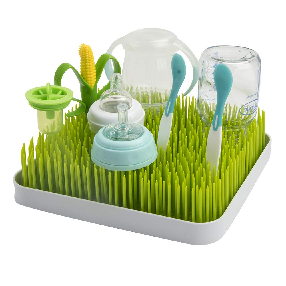 Baby Bottle Lawn Drying Rack Large Dish Rack Grass Countertop Green Soraco