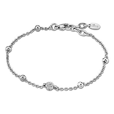 Lotus Style - Pulsera para mujer de acero inoxidable, color plata, colección Rainbow JLS1763-2-1