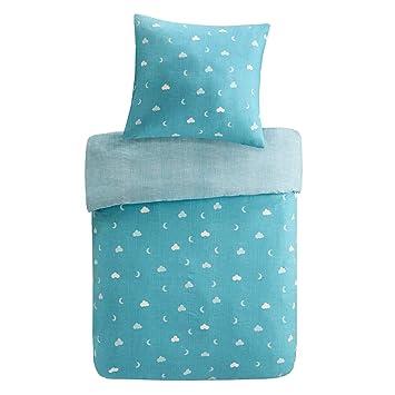 ec83b4b42eb0e mizone Kids Owl 2 pièces Parure de lit enfant avec chouette 100% coton  Parure de ...
